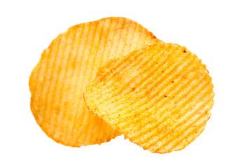 Potato ripple chips