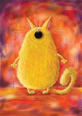 Cat Yellow 2