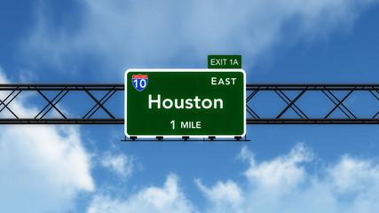 Hosuton USA Interstate Highway Sign
