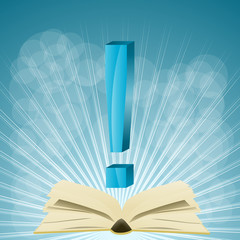 książka i wykrzyknik