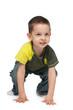 Active little boy