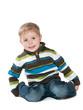Cute little boy in a swetear