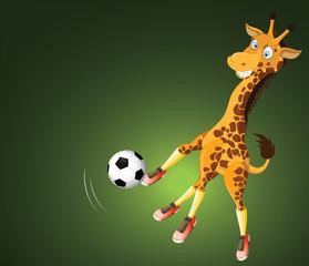 Soccer Player Giraffe