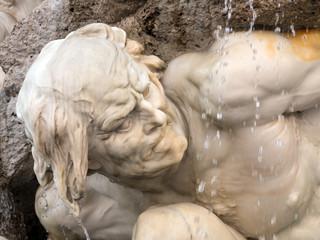 """Detail des Brunnen """"Die Macht zu Lande"""", Michaealerplatz Wien"""