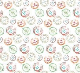 Pattern of floral design elements