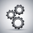 Gears or settings icon, stock vector - 78433697