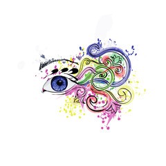 abstract background eye, the author's work,vector