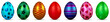 Shiny painted Easter eggs