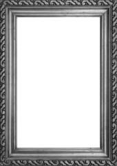 Verzierter Fotorahmen schwarz-weiss