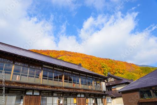 Autumn foliage near the Sukayu Hot Spring in Mt.Hakkoda, Aomori,