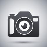 Photo camera icon, stock vector
