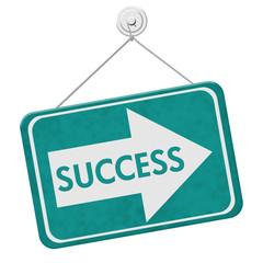 Success This Way Sign