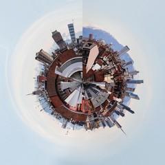 Panoramica circolare su Milano expo 2015