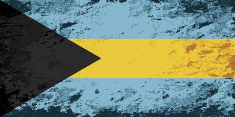 Bahamas flag. Grunge background. Vector illustration