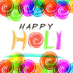 Creative greeting card design for Indian festival, Happy Holi.