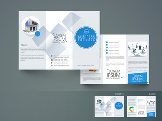 Professional tri-fold flyer, brochure or template for business.