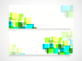 Abstract website header or banner set.