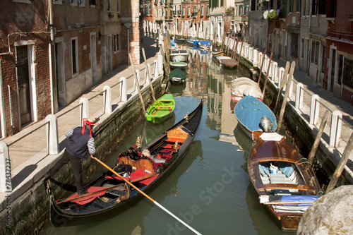 Fotobehang Gondolas Venetian gondola