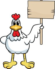 Chicken with a Sign