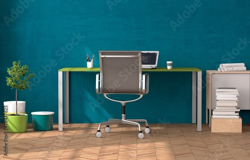 canvas print picture Home-Office - Zuhause