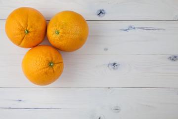 Oranges on table