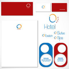 Colorful hotel vector pack printable