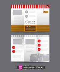 Fold Brochure background template 0004
