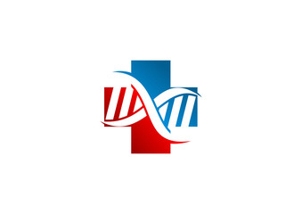 DNA cross pharmacy logo