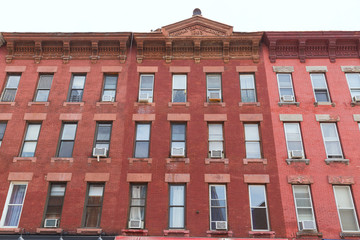 Brooklyn brickwall building facades in New York