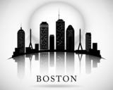 Fototapety Boston skyline. City silhouette