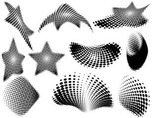 Halftone logos