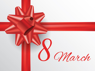 Gift for 8 march women's day, vector