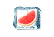 grapefruit and ice cube