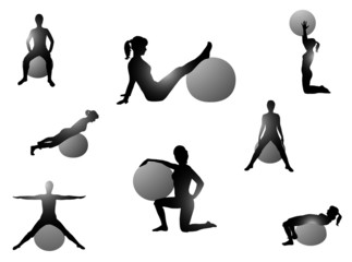 Illustration of pilates exercise