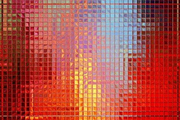 Colorful glass mosaic, nice psychedelic tile background