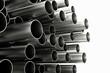 Viele Röhren aus Chrom und Metall - 78441823