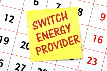 A reminder to Switch Energy Provider on a calendar