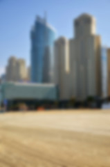 Blurred day beach and city background