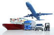 canvas print picture - Transport und Logistik bei Spedition