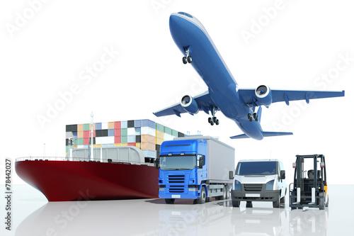 canvas print picture Transport und Logistik bei Spedition