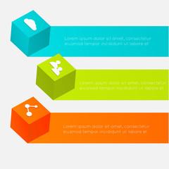 3d cube infographics.