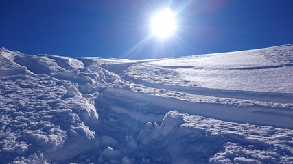 Many snow and many sun!