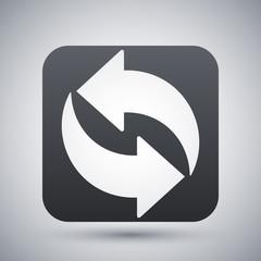 Refresh icon, vector