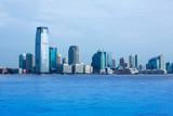 New Jersey skyline from Hudson River NY USA