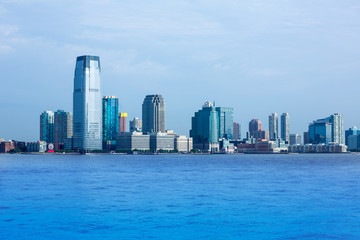 New Jersey skyline from Hudson River NY USA
