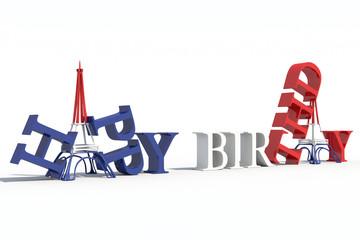 Torre Eiffel 3D happy birthday