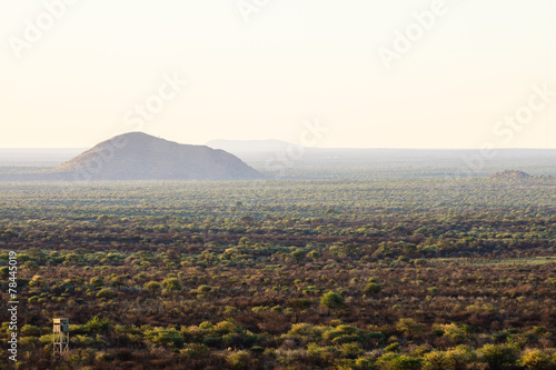 canvas print picture Landschaft in Zentral-Namibia