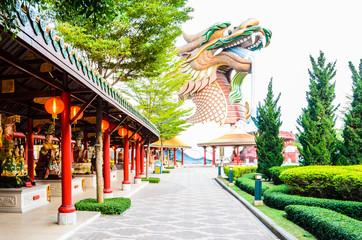 Big golden dragon,thailand