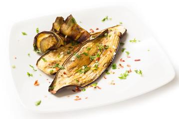 Melanzane grigliate, grilled eggplant
