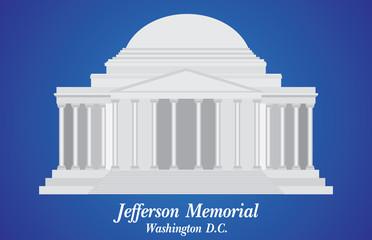 Jefferson Memorial, Detailed Vector Illustration